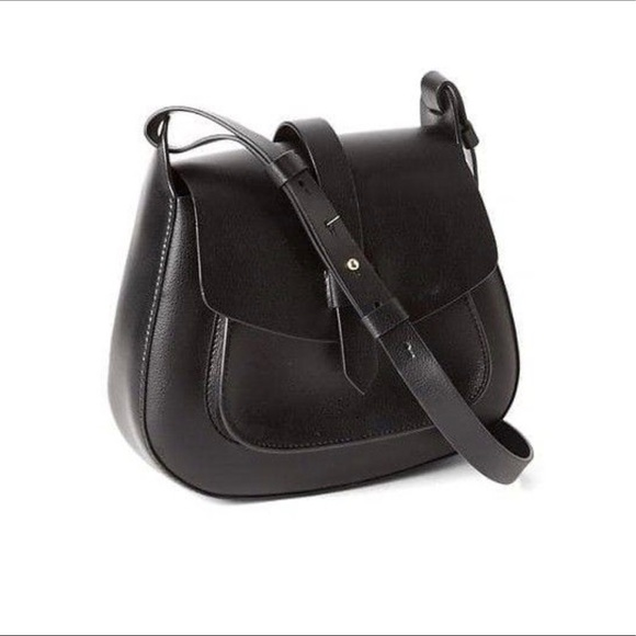 GAP Handbags - Gap Black Faux Leather Crossbody Purse d13371a6c852a